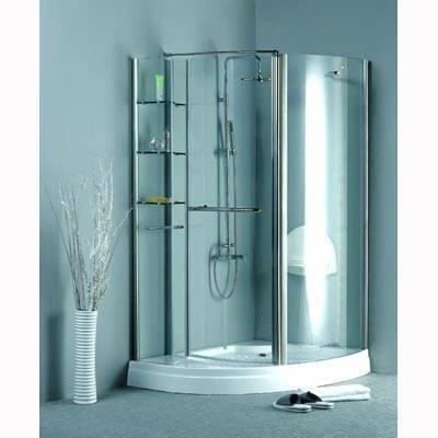 简易淋浴房带底盆