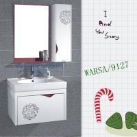 成都洁具厂家/批发华樱莎卫浴 PVC现代浴室柜9127