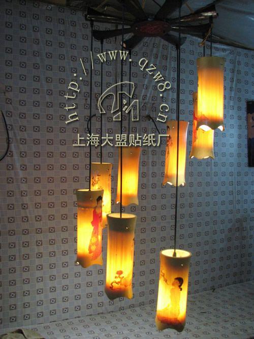 大盟水移畫 燈具印花貼紙燈罩水轉印貼紙-- 大盟