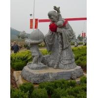 福禄寿石雕财神寿星,石雕关公,鲁班八仙梁山好汉等人物作品雕塑