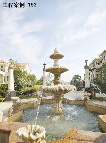 水景、具有特色东南亚风格的特色雕塑工艺;   2、雕塑水景与整个建