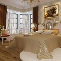 慕勒饰家墙纸/欧式风格/卧室背景墙纸 植绒壁纸/绒面墙纸