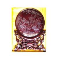 红木嵌银看盘