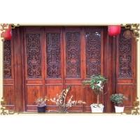 东阳仿古木雕家具/镂空雕花板/背景墙/实木花格/吊顶/设计