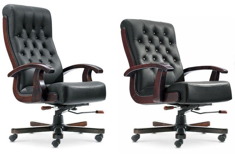 西安办公家具牛皮班椅转椅老板椅雅凡家具