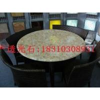 北京鹅卵石透光板桌面