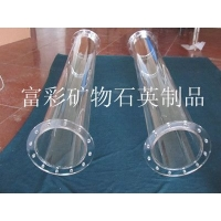 大口径石英管焊法兰、耐高温玻璃管