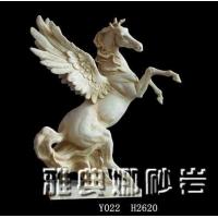 供应深圳雅典娜艺砂岩雕塑-骏马圆雕