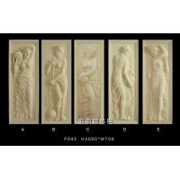 砂岩浮雕壁画-沐浴美女雕塑