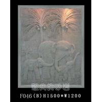 供应砂岩浮雕壁画,深圳砂岩雕塑-大象浮雕