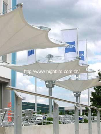 膜伞,膜结构伞,商业街膜伞,商业街膜结构伞