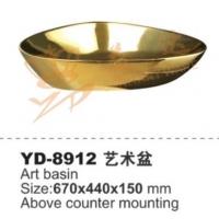 TOTO 洗手盆、金色陶瓷盆、金色艺术盆