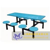 上海八人位玻璃钢餐桌椅MBG-CZY-018