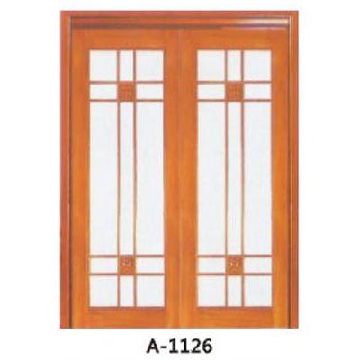 成都实木贴板门A-1125、A-1126