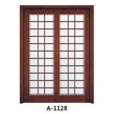 成都实木贴板门A-1127、A-1128