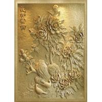 精品名画浮雕--花开富贵