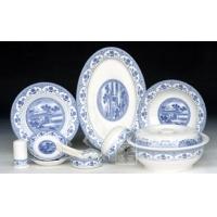 供应景德镇陶瓷56头青花玲珑餐具 礼品骨瓷餐具