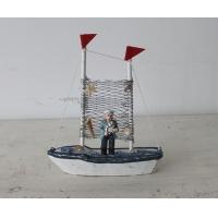 福州家居饰品摆件地中海实木摆件木质仿古海洋帆船时尚家居倍思