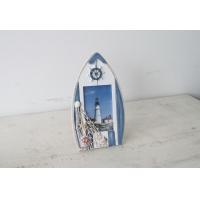 福州家居饰品摆件地中海实木摆件木质仿古船型相框时尚家居倍思家