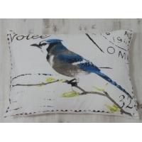 最好的家居抱枕美式邮票风格花鸟图案