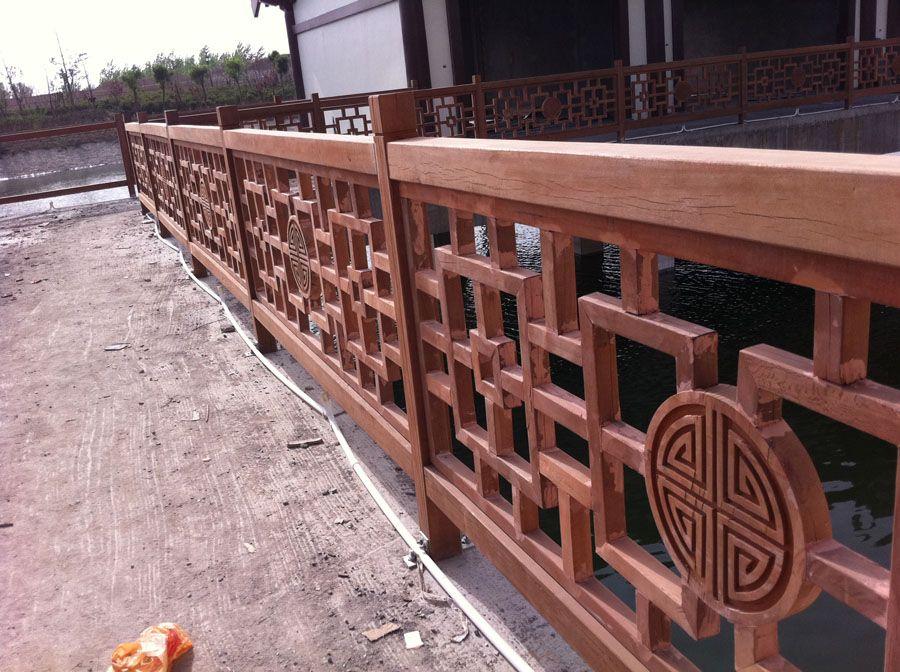 宏艺达/防腐木栅栏扶手|卉峰园林景观建材