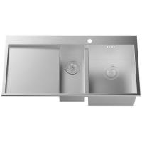成都宏浪卫浴不锈钢双槽2H54S507