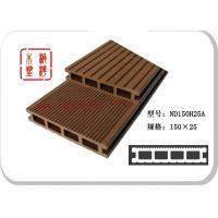 供应140*25塑木中空地板、PE户外防腐地板