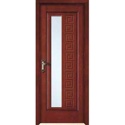 成都实木门-木中堂实木套装门(红棕系列)