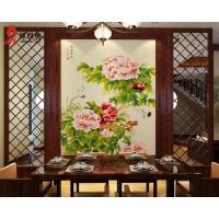 餐厅瓷砖背景墙瓷艺挂画