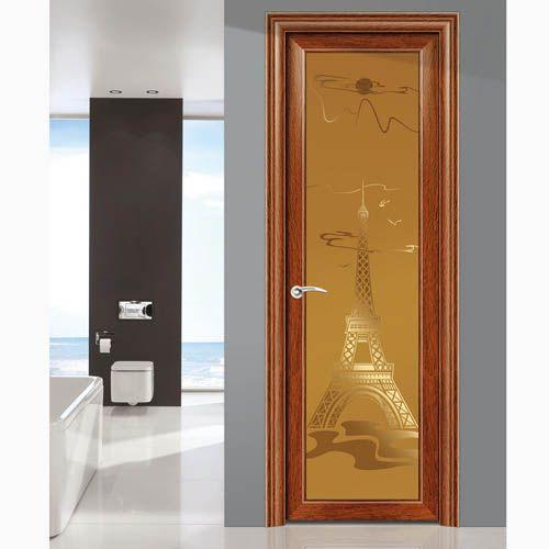 铝合金雅居锁配置豪华洗手间门 高清图片