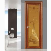 盛成-银狐平开门 铝合金雅居锁配置豪华洗手间门 佛山厕所门