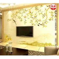 供应深圳厂家瓷砖背景墙雕画机