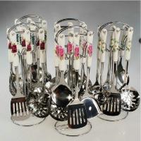 不锈钢厨房用具 7件套装 陶瓷柄不锈钢厨具锅铲汤勺饭勺漏勺