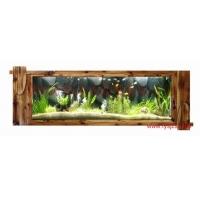 供应浮阳壁挂鱼缸 水族画 免换水鱼缸 壁挂式鱼缸