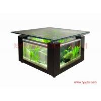 浮阳茶几鱼缸装饰;生态鱼缸生态茶几;玻璃茶几;水晶玻璃茶几