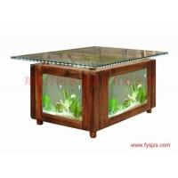 浮阳水晶茶几鱼缸 家具水晶茶几 茶几组合 生态水晶茶几