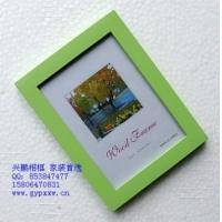 厂价批发5寸绿色加厚实木相框 可做照片墙相片墙