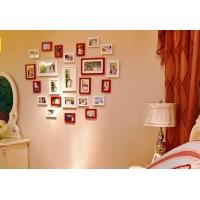 24框心形组合照片墙 实木相框相片墙