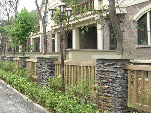 别墅围墙大门柱图片