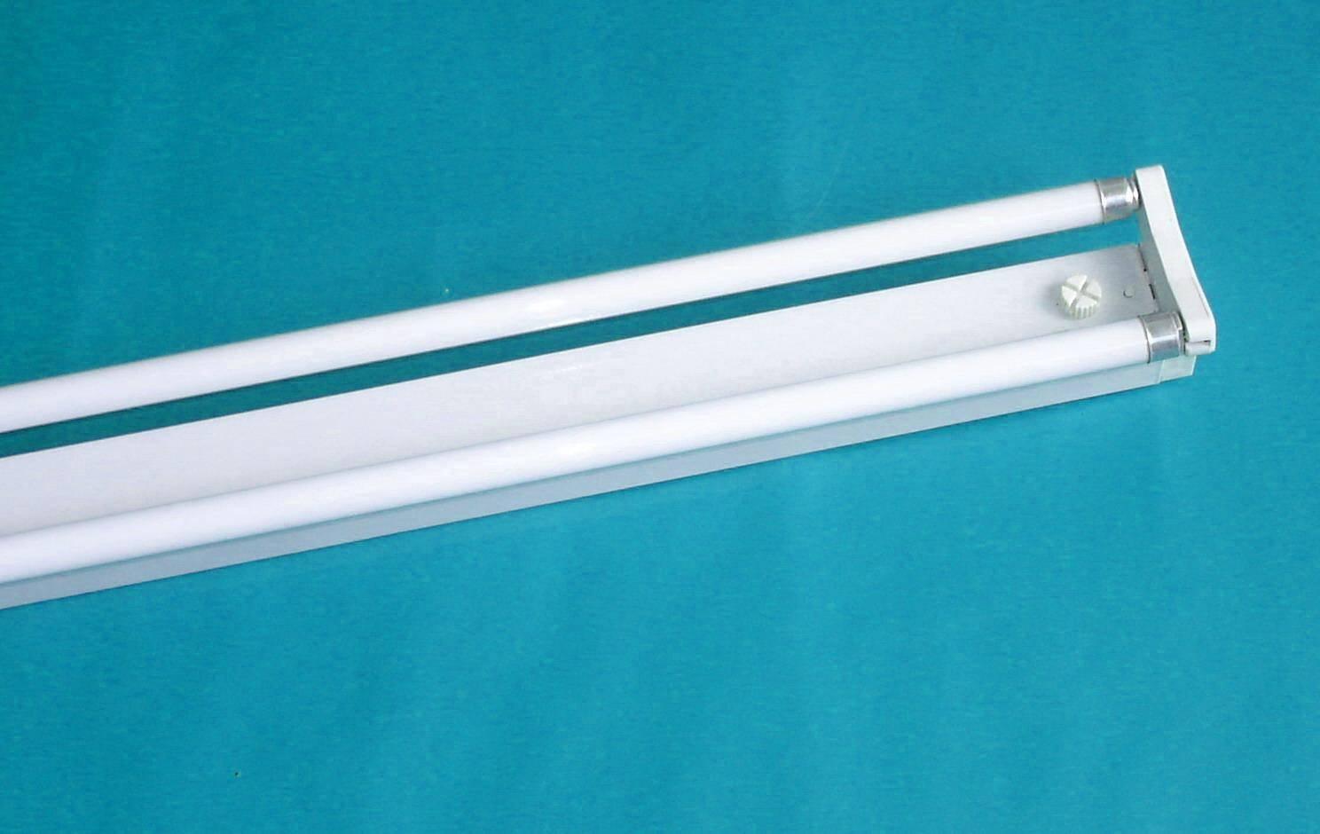 t5节能灯具双支平罩日光灯支架