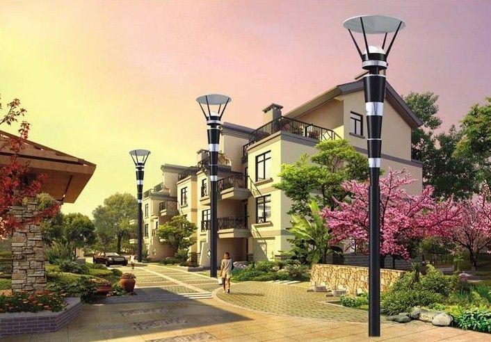 庭院灯应垂直安装,立柱式路灯,落地式路灯,特种园艺灯等灯具应与基础