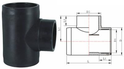 E给水管 PE排水管 PE管 管件 PE电熔正三通