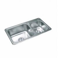 宏浪洁具-不锈钢水槽系列-不锈钢双槽-FQ-19061