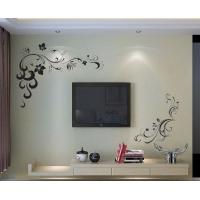 硅藻泥黑白色花纹背景墙