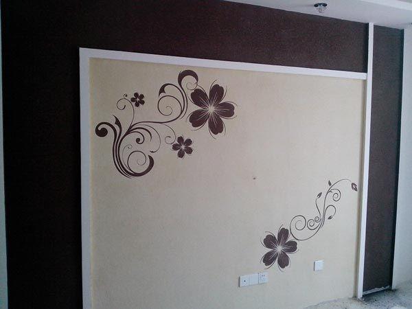 硅藻泥手工背景墙_欧歌硅藻泥
