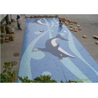 游泳池水池喷泉马赛克海豚拼图瓷砖