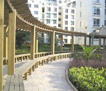 供应南京防腐木廊架订做安装工程