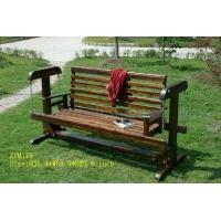 专业制作碳化木休闲椅