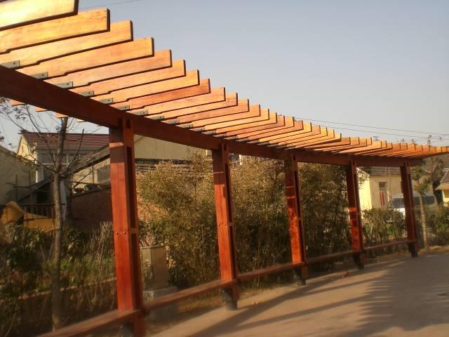 镇江防腐木-南京聚源防腐木-廊架