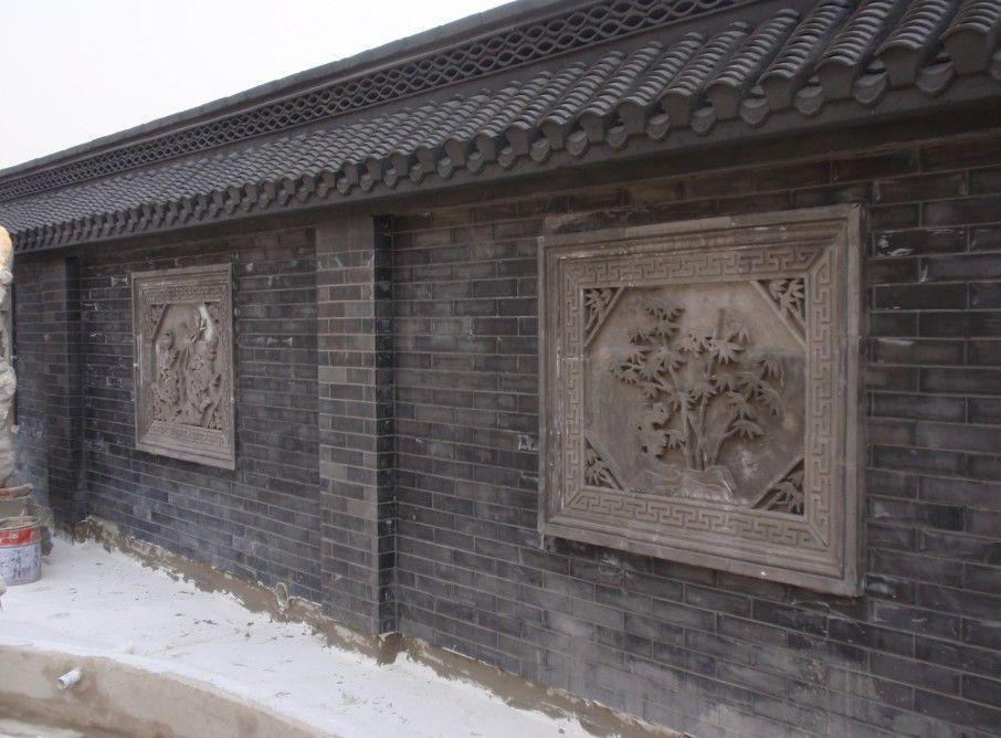 围墙门头图片_供应灰瓦 仿古瓦 围墙用瓦 古建青瓦 - 长城古建 - 九正建材网